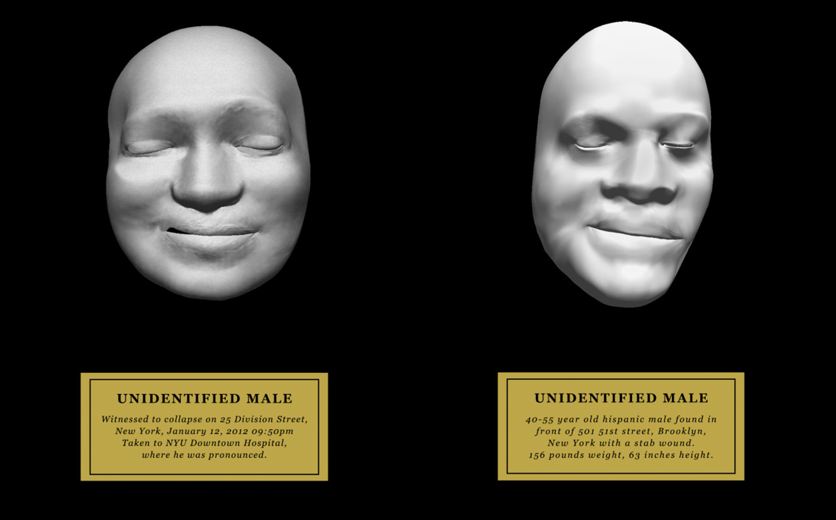 Death Masks for the Unidentified