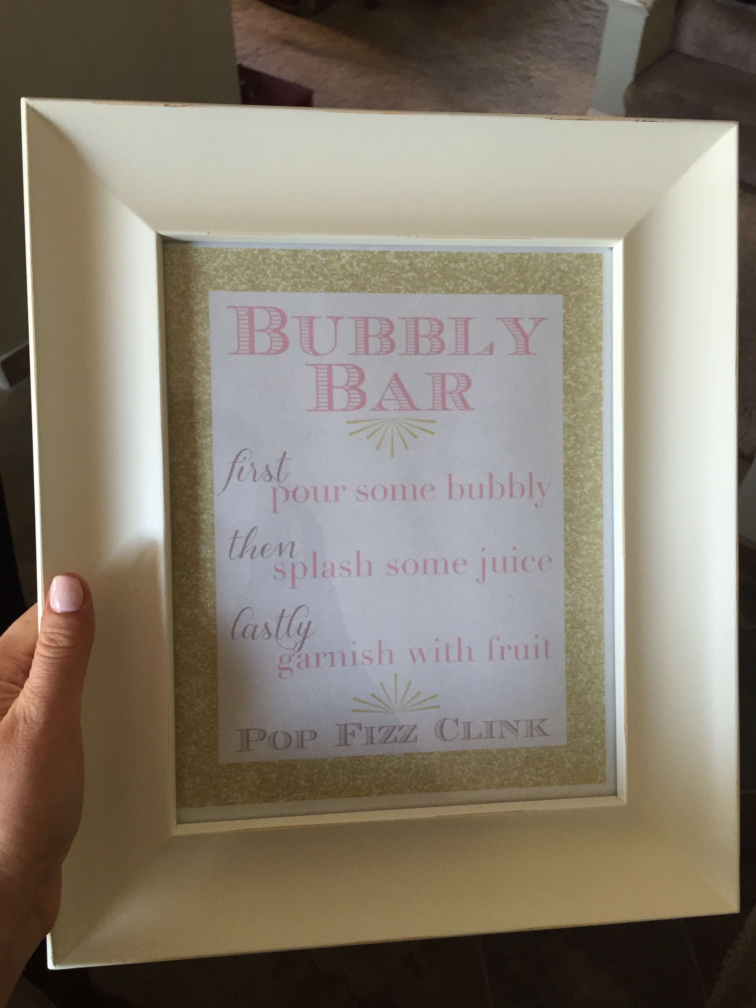 Champagne bar sign I made for the morning of!