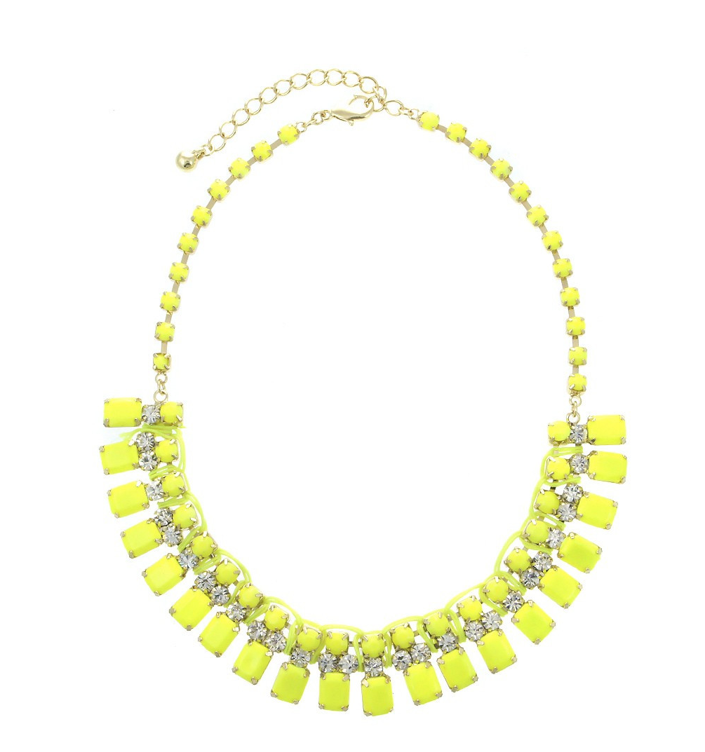 Urban Gem Bright and Bib Neon Necklace, $20