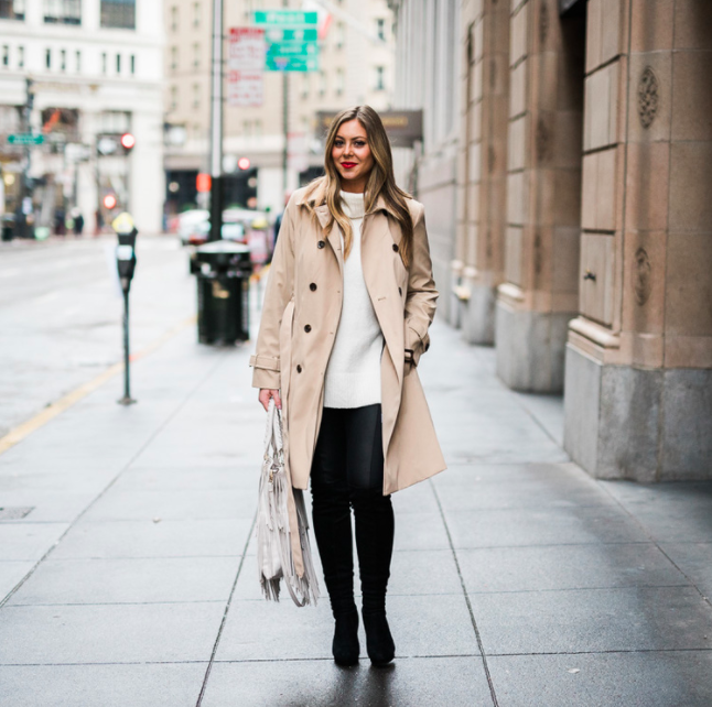 Outfit Details: Top:  this Bar III top  // i  white long sleeved top ,  this long vest , and this  faux fur jacket (on serious sale!)   Photos: Nathalie Bize