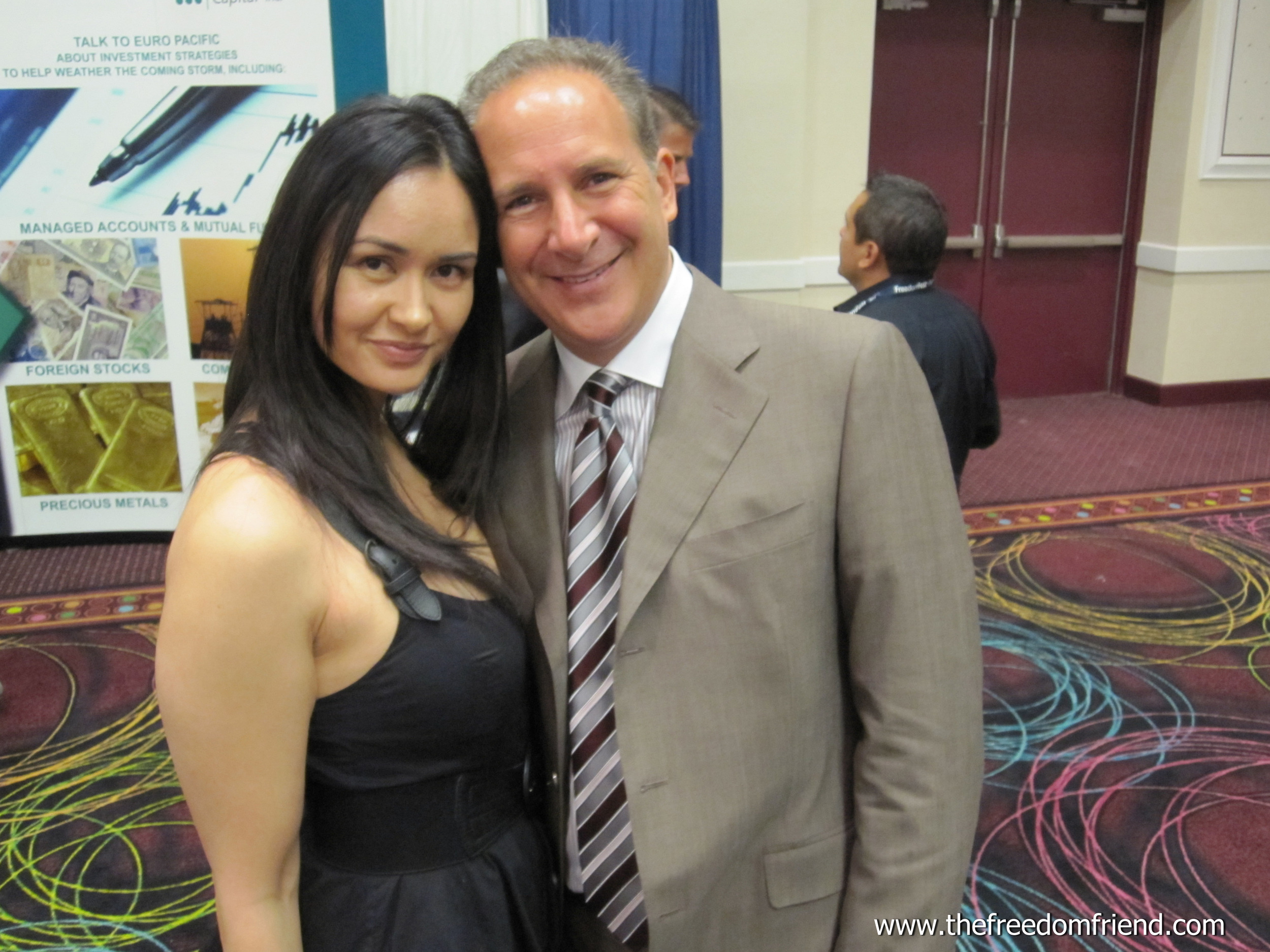 The Freedom Friend's Michelle Liberman and  Peter Schiff , CEO and chief global strategist of Euro Pacific Capital Inc., author, and entrepreneur who was one of few who forecasted the 2008 housing crash