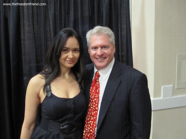 The Freedom Friend's Michelle Kova and Wayne Allyn Root (2008 Vice-presidential candidate)