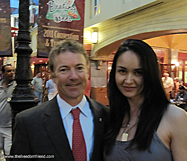 The Freedom Friend's Michelle Kova and Senator Rand Paul (2016 Presidential candidate)
