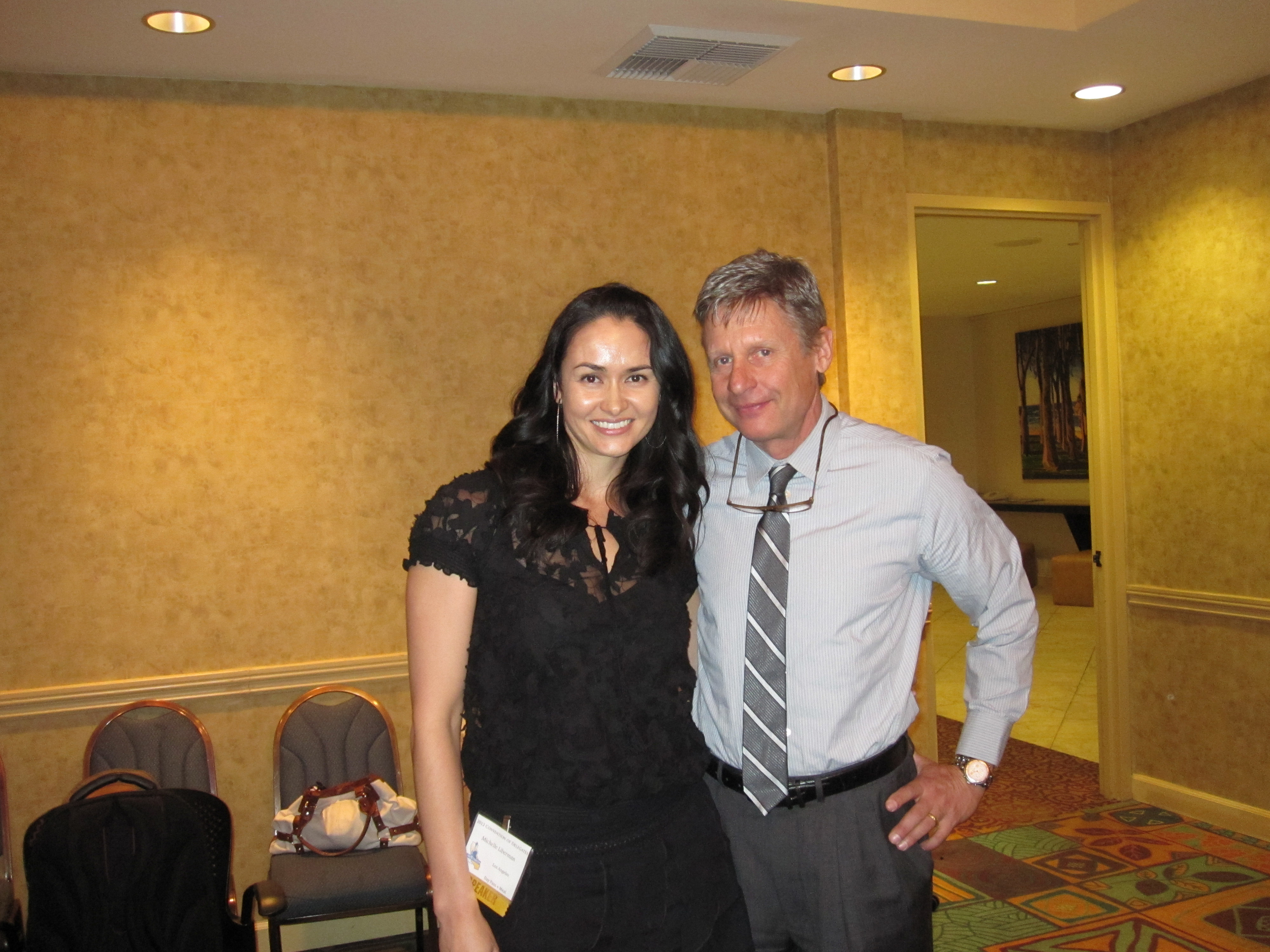 The Freedom Friend's Michelle Liberman and Gary Johnson (2012 Presidential candidate)