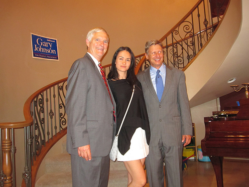 The Freedom Friend's Michelle Kova, Gary Johnson, and Judge Jim Gray at a fundraising event
