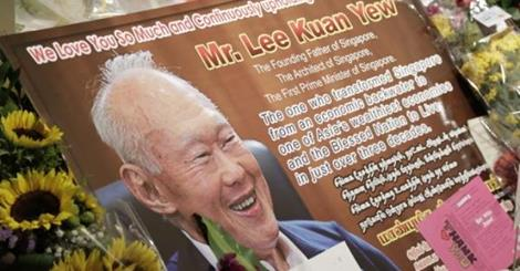 Mr. Lee Kuan Yew, Singapore's 1st prime minister and founding father passed away today. He was an advocate for free markets and capitalism and transformed a 3rd world back swamp of a nation into one of the most prosperous economies in the world.