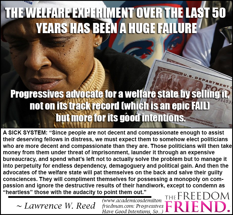 Welfare is a sick system and has been a huge failure.