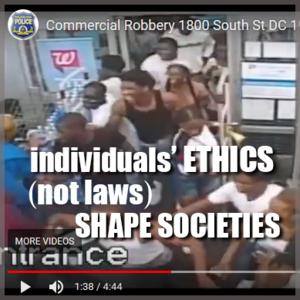 Individuals' ethics shape society