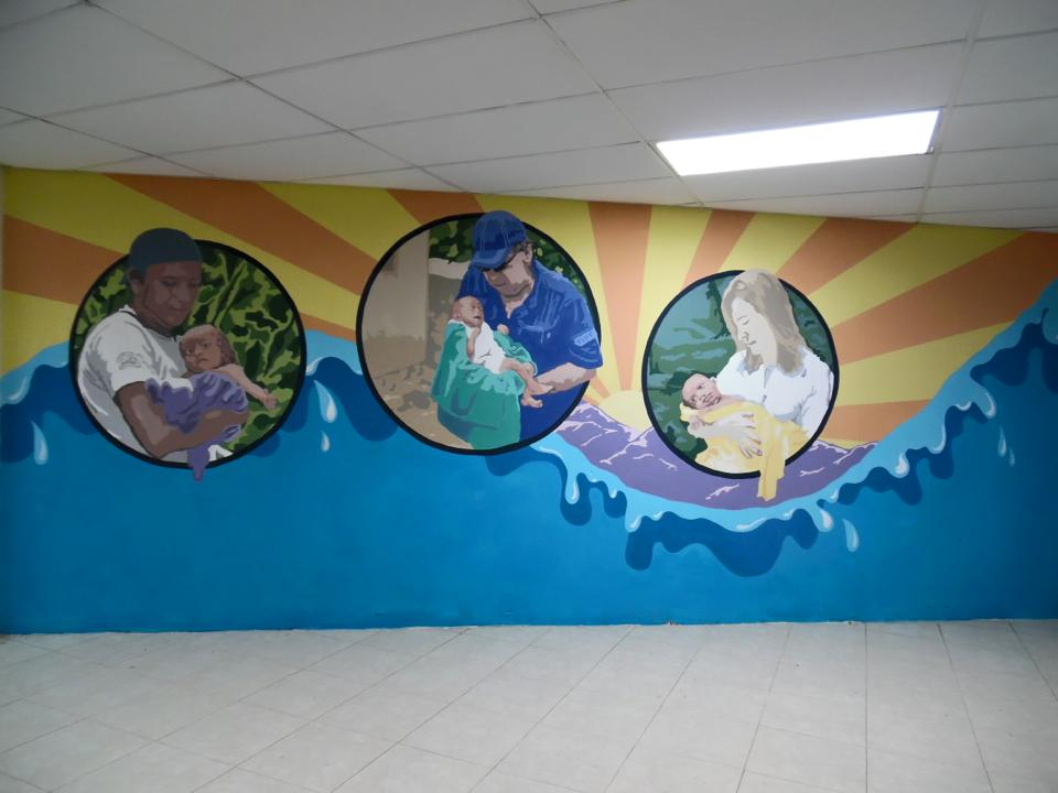 Mural at a hospital at Hope of Life International (an incredible organization!) done in three days