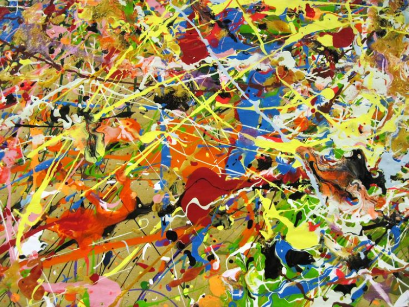 A piece done by Jackson Pollock
