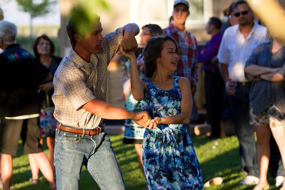 "My brother Andrew, 21, and I doing ""The Pretzel"" at a summer wedding"