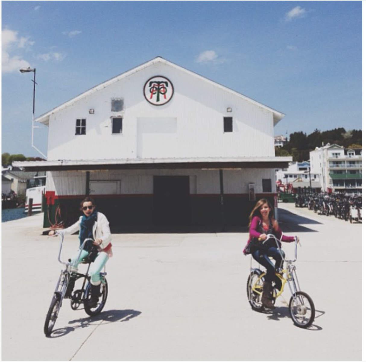 Emma and I riding our bikes // Photo by Shannon Sewell