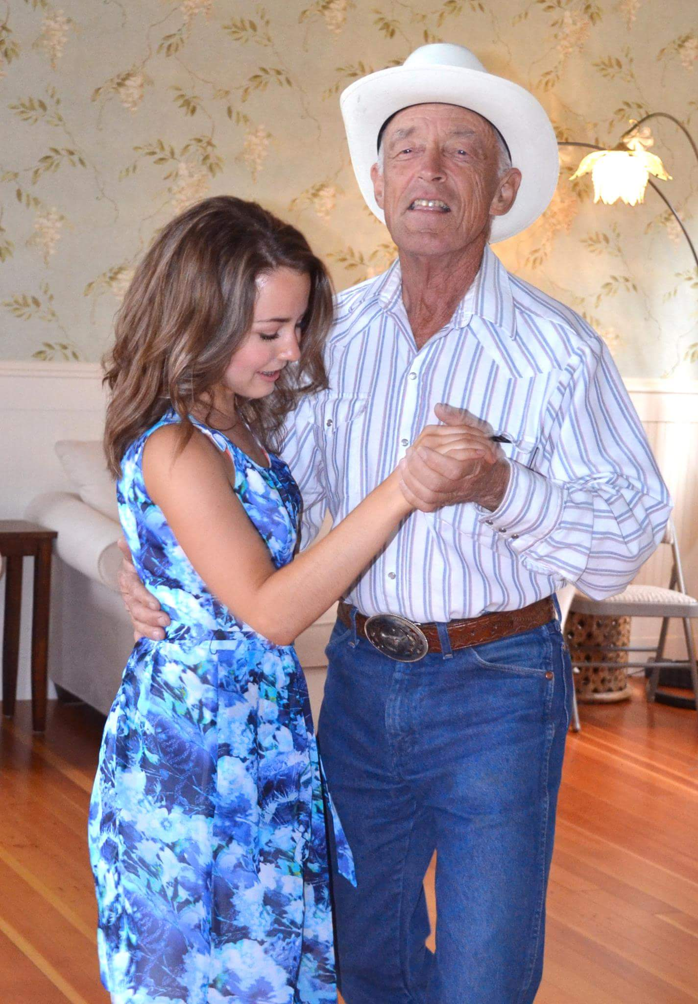 Dancing with Grandpa on my graduation day, June, 2016