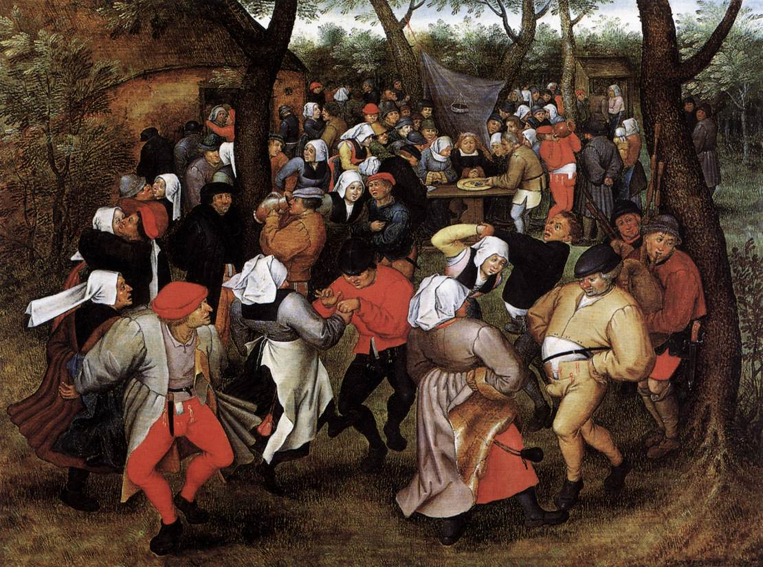 The Wedding Dance   (c.1566), oil on oak panel,  The Detroit Institute of Arts