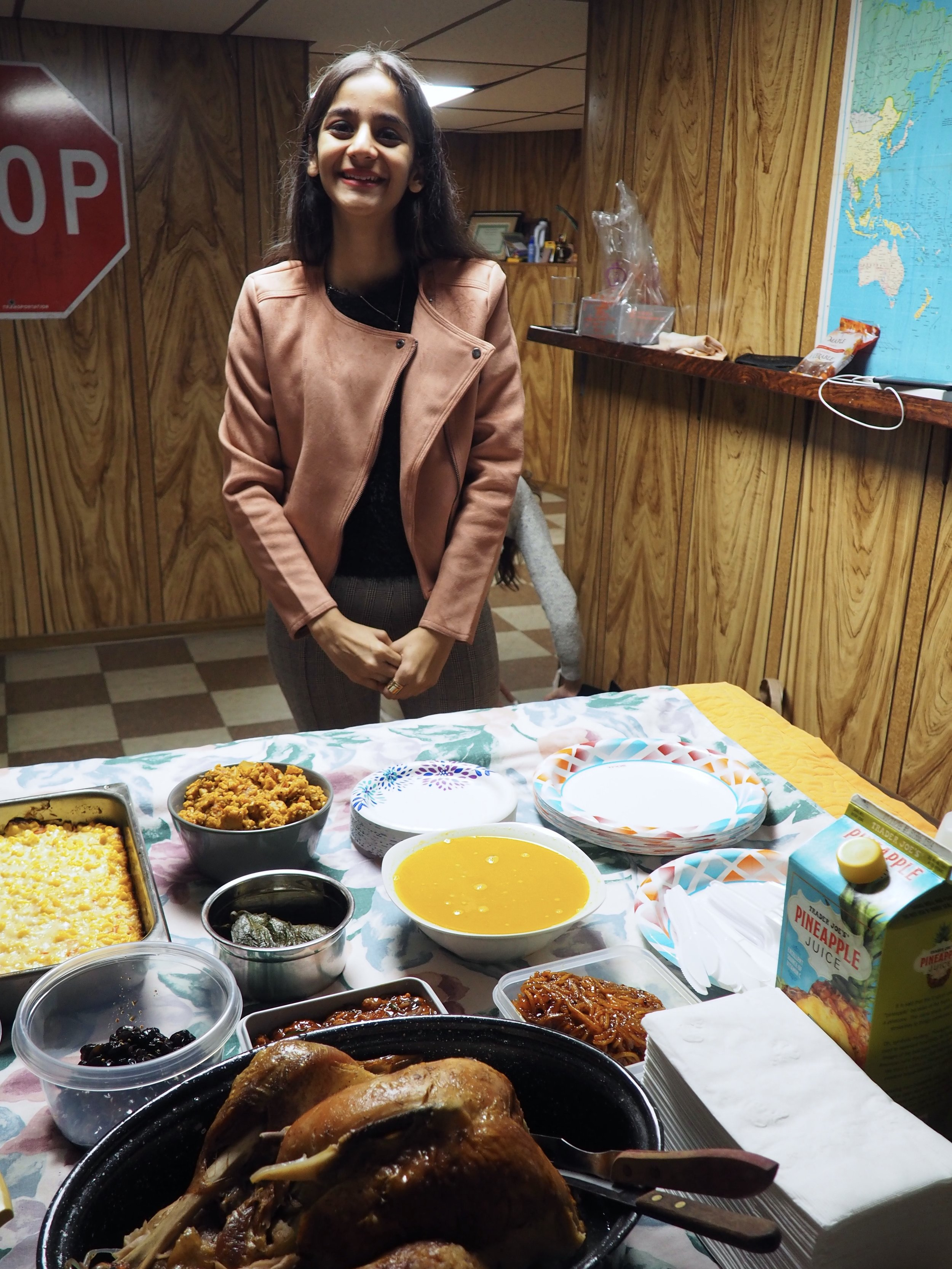 Niyomi and her Indian dishes