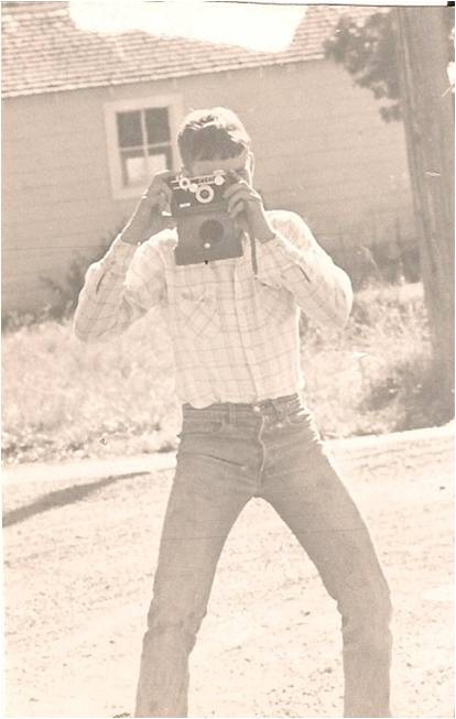 My dad (fear factor champion) in photography class, 1985