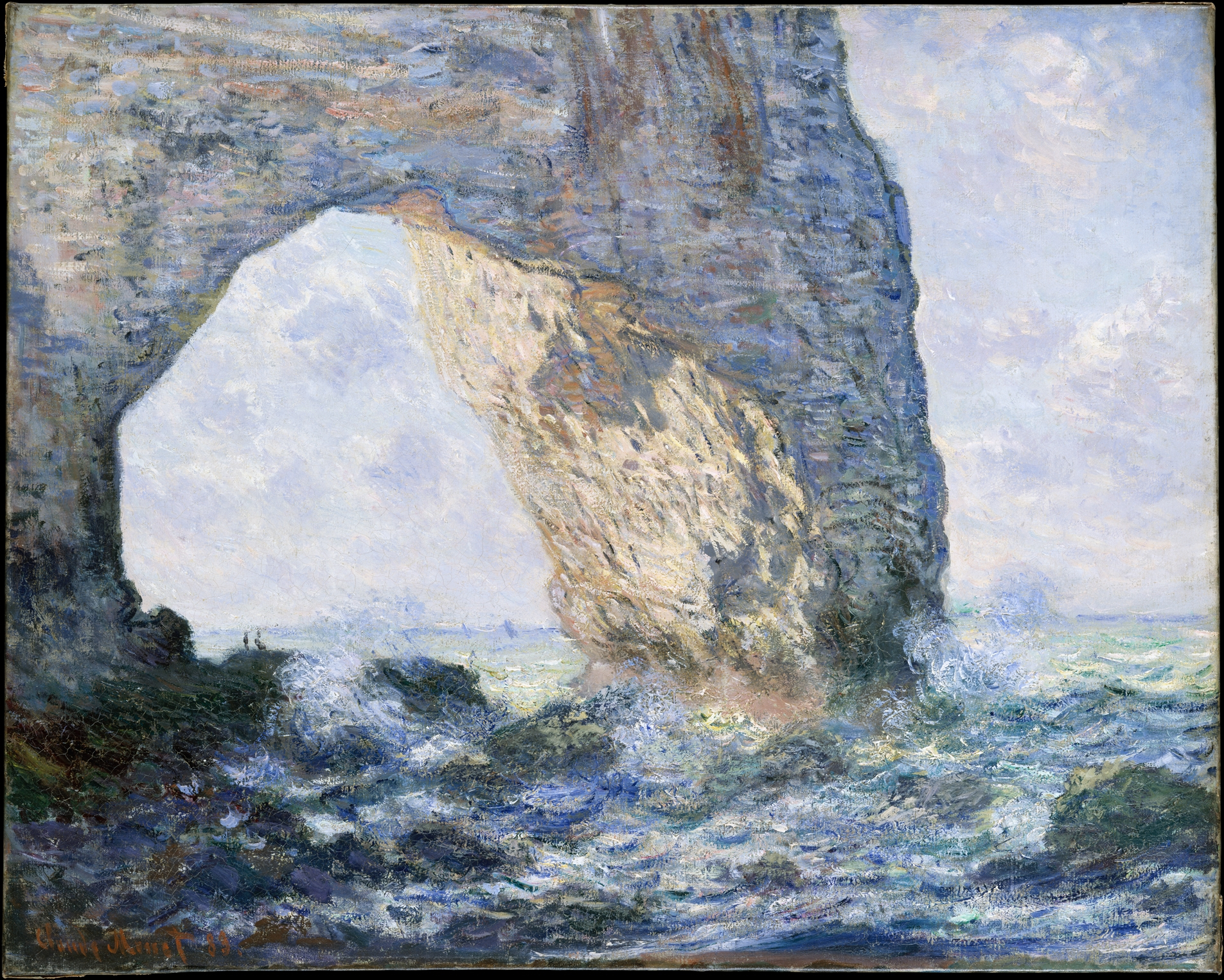 The Manneporte , Claude Monet:  (1883) - New York, Metropolitan