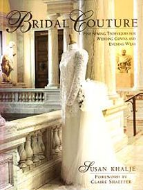 One of Susan's books, Bridal Couture, that Marla has lent me to use while I work on dresses over the summer.