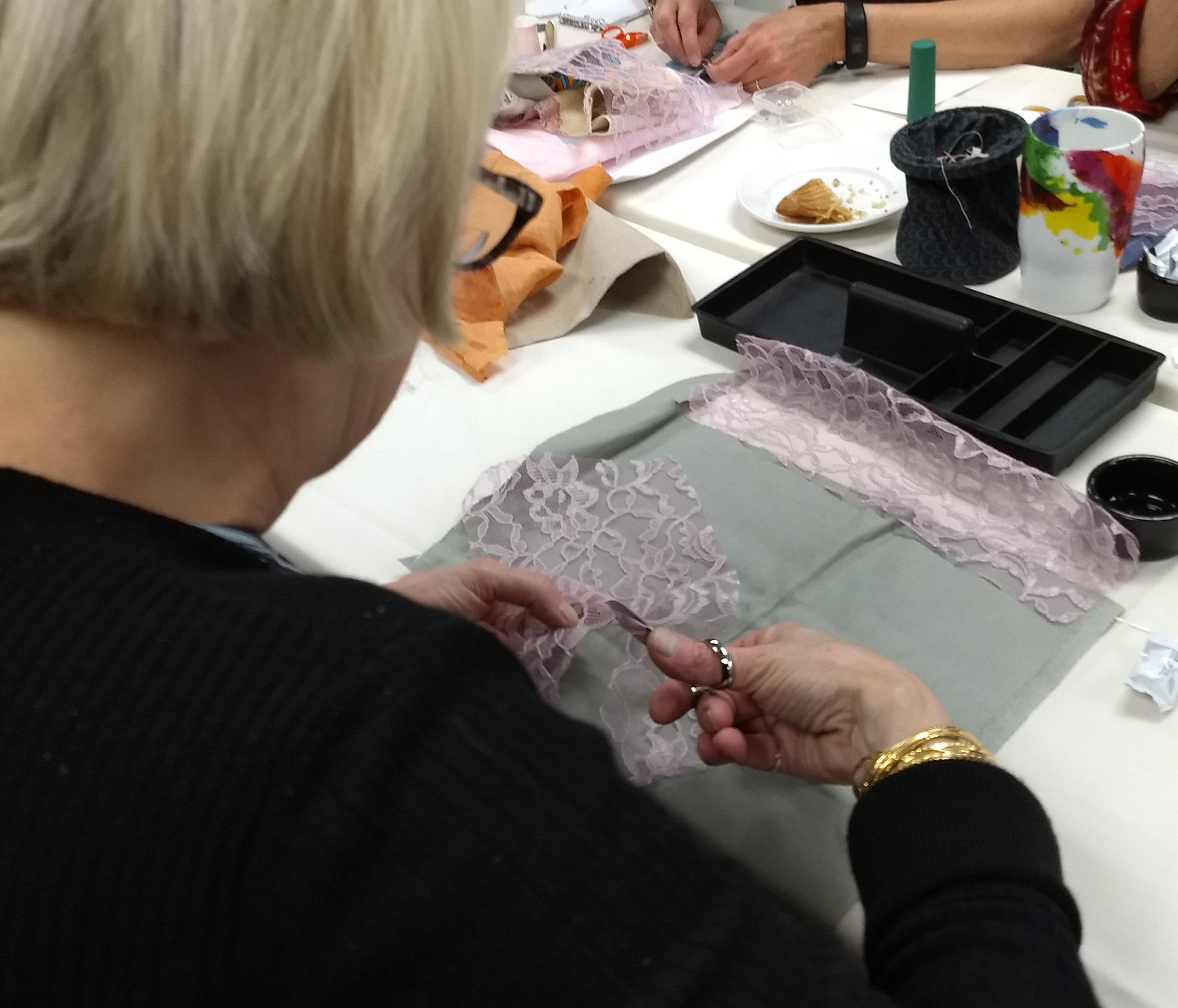 Susan's piecework lace example