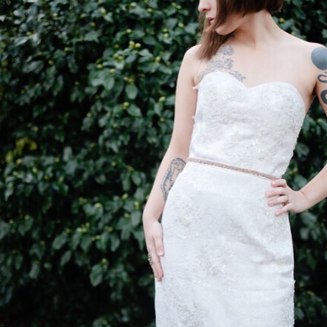 A conservative dress for the ceremony, with a little party dress underneath 🎉🎉 Photos by @kelwardphotography  Flowers by @morning_glories_floral  Bride @rubiksanonymous