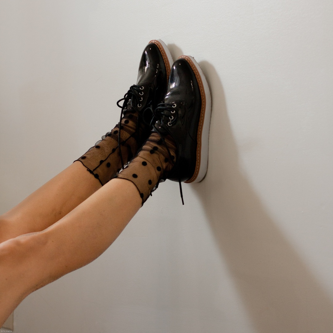 Sheer Polka Dot Socks