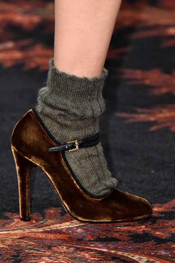 A fun play in textures to dress down a pair of heels
