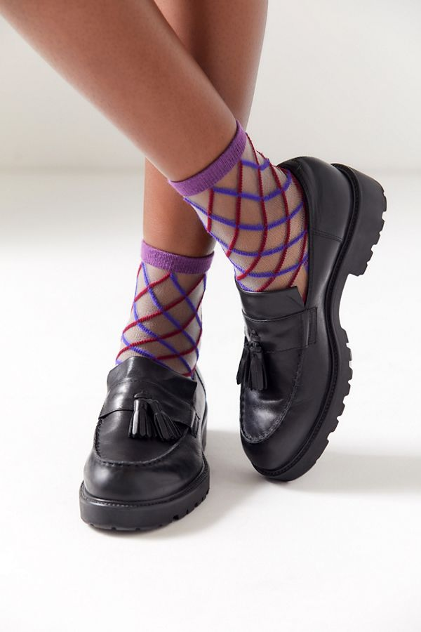 Sheer socks from   Urban Outfitters     with leather loafers