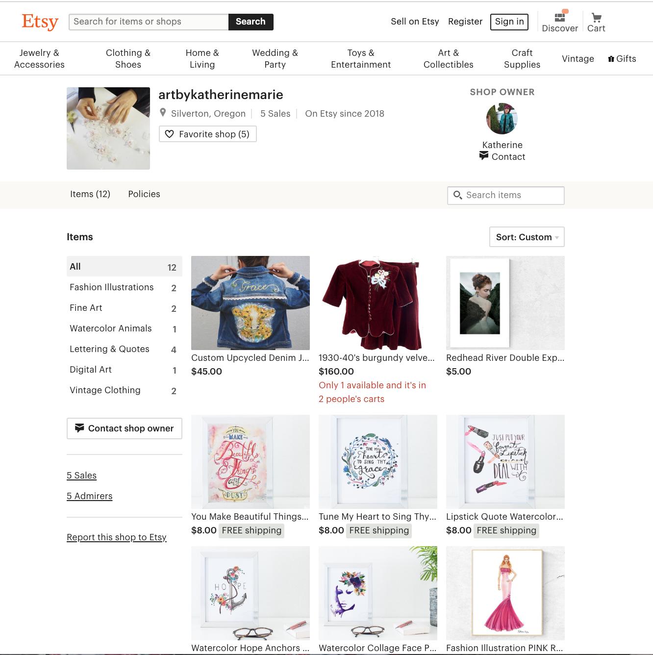 Etsy Shop -