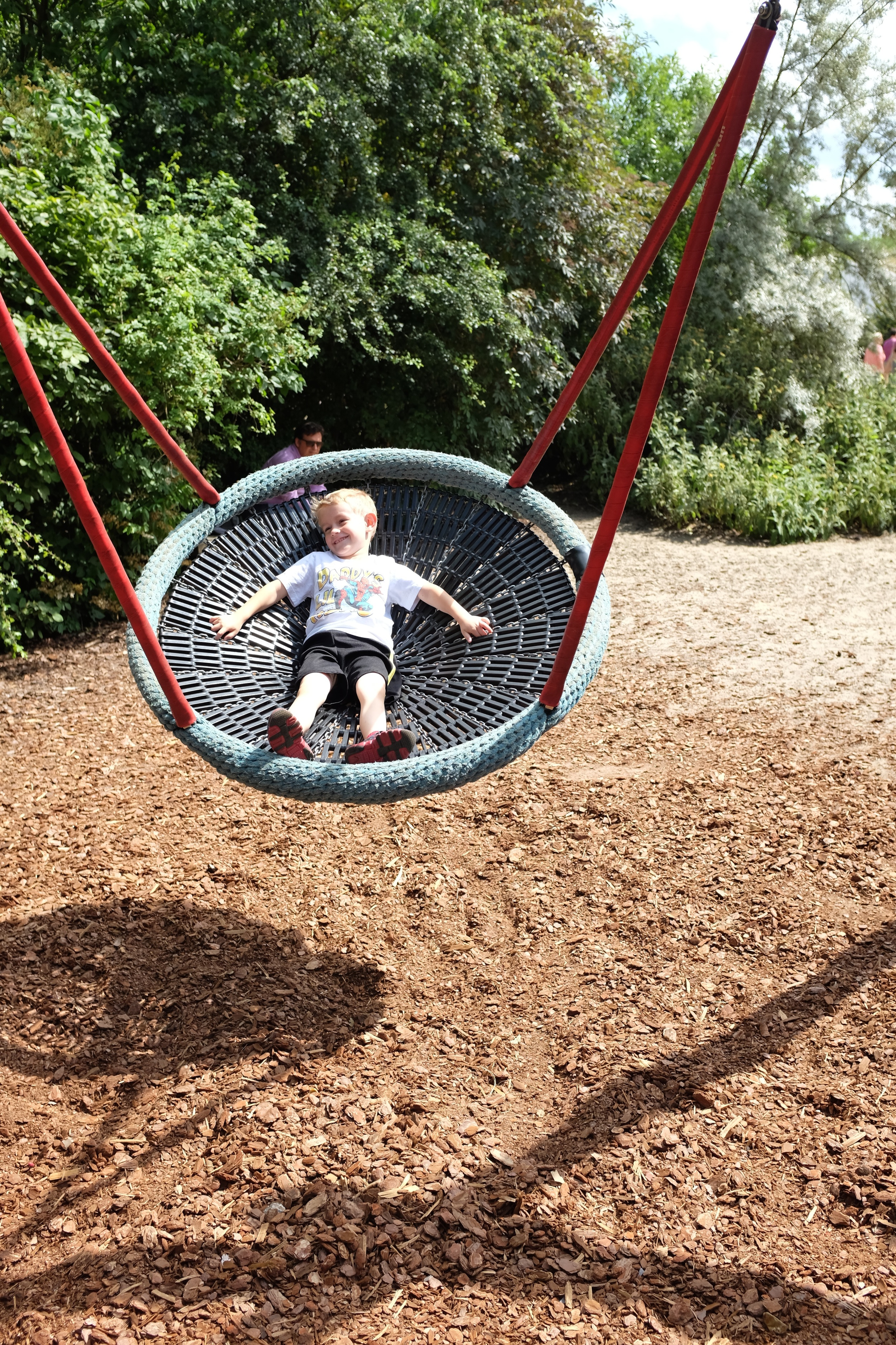 The crazy swing...Kian's favorite thing on the playground