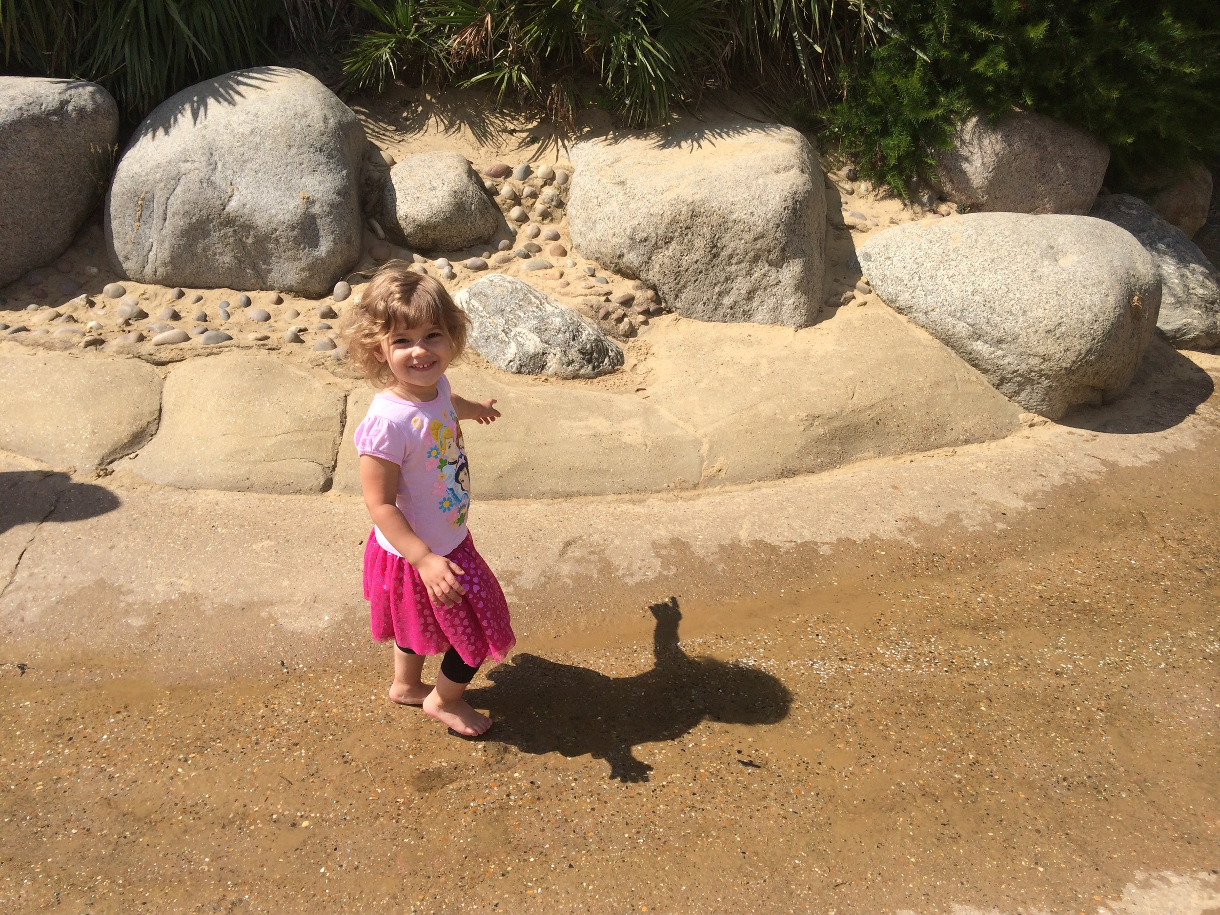 Hannah's favorite section...a bit of water a bit of sand...perfection!