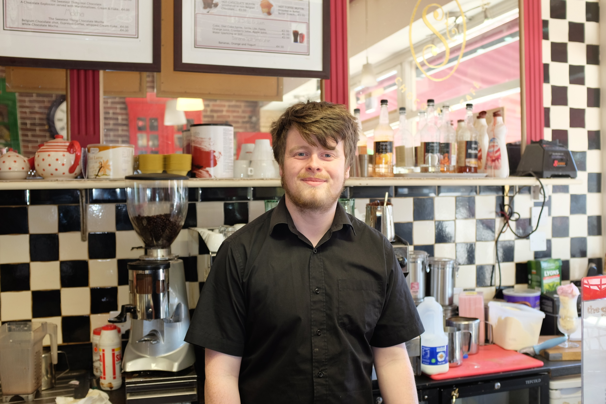 Declan - The man from the Sweetest Thing Shop who gave us recommendations of what to visit in Dublin