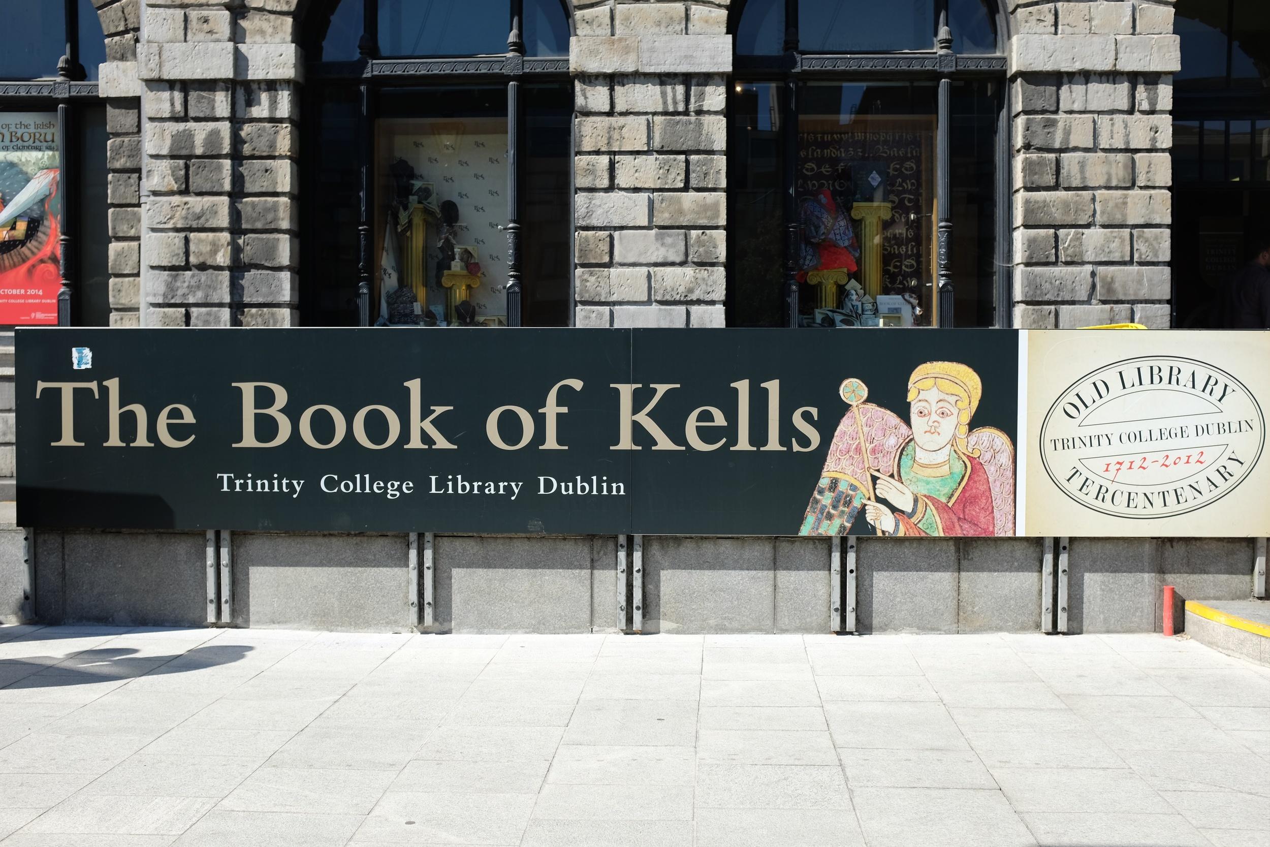 The Book of Kells exhibit
