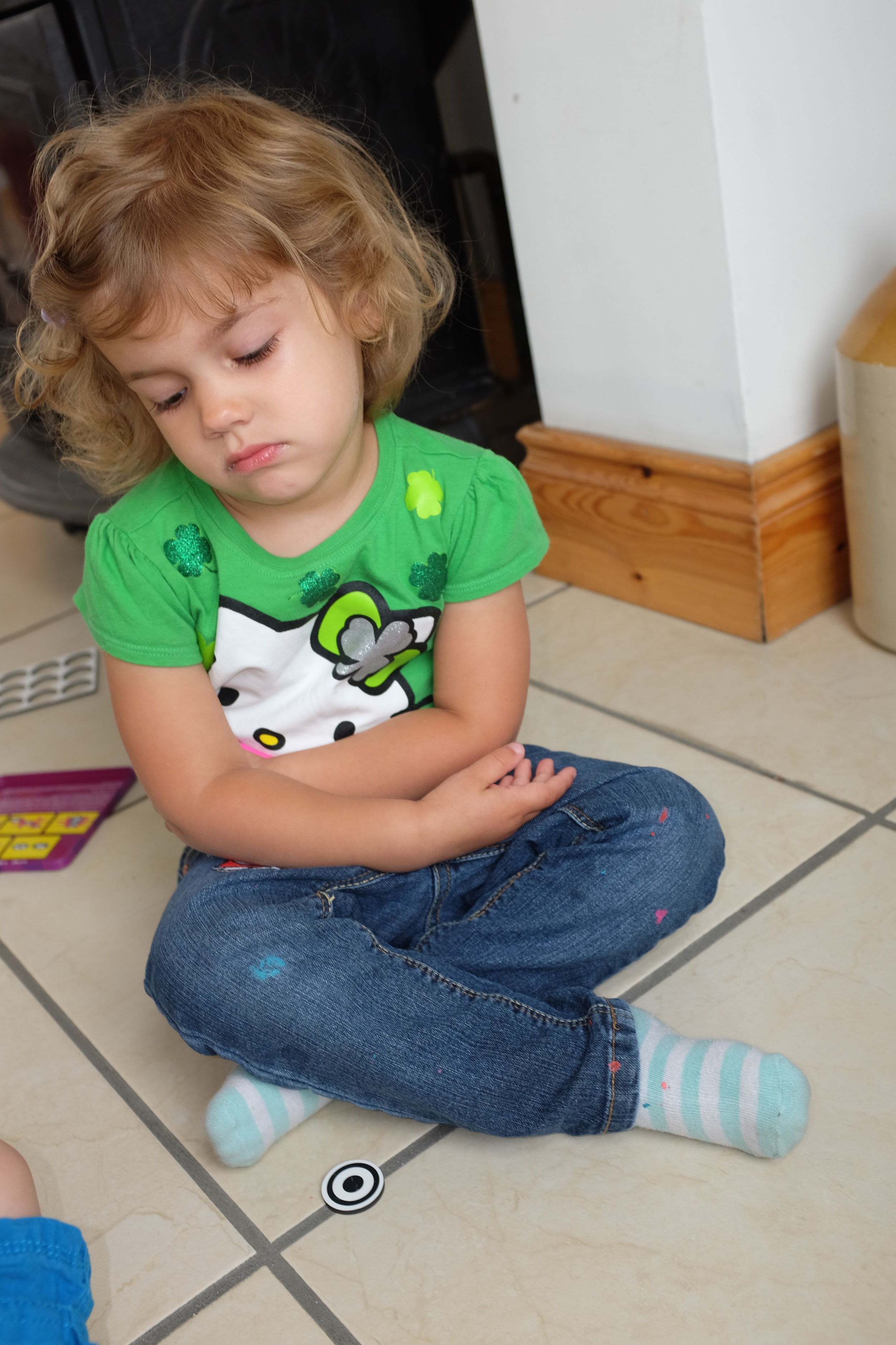 Losing is no fun especially for a 2.5 year old :(