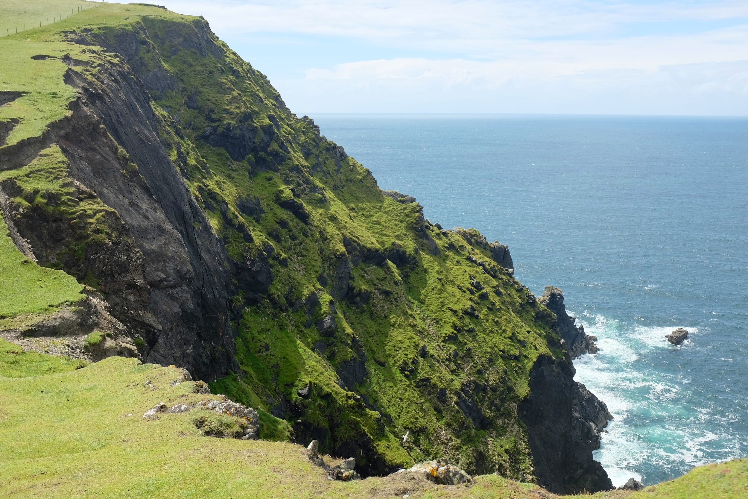 View of the cliffs and the Atlantic Ocean