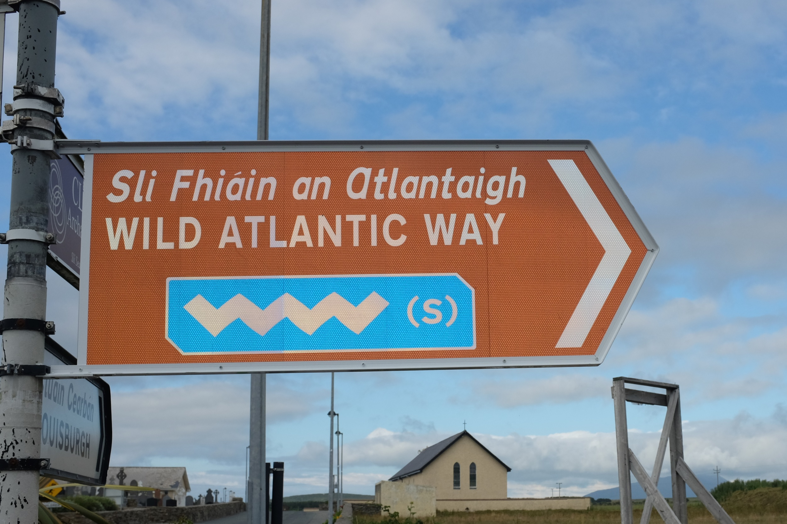 A sign for the Wild Atlantic Way