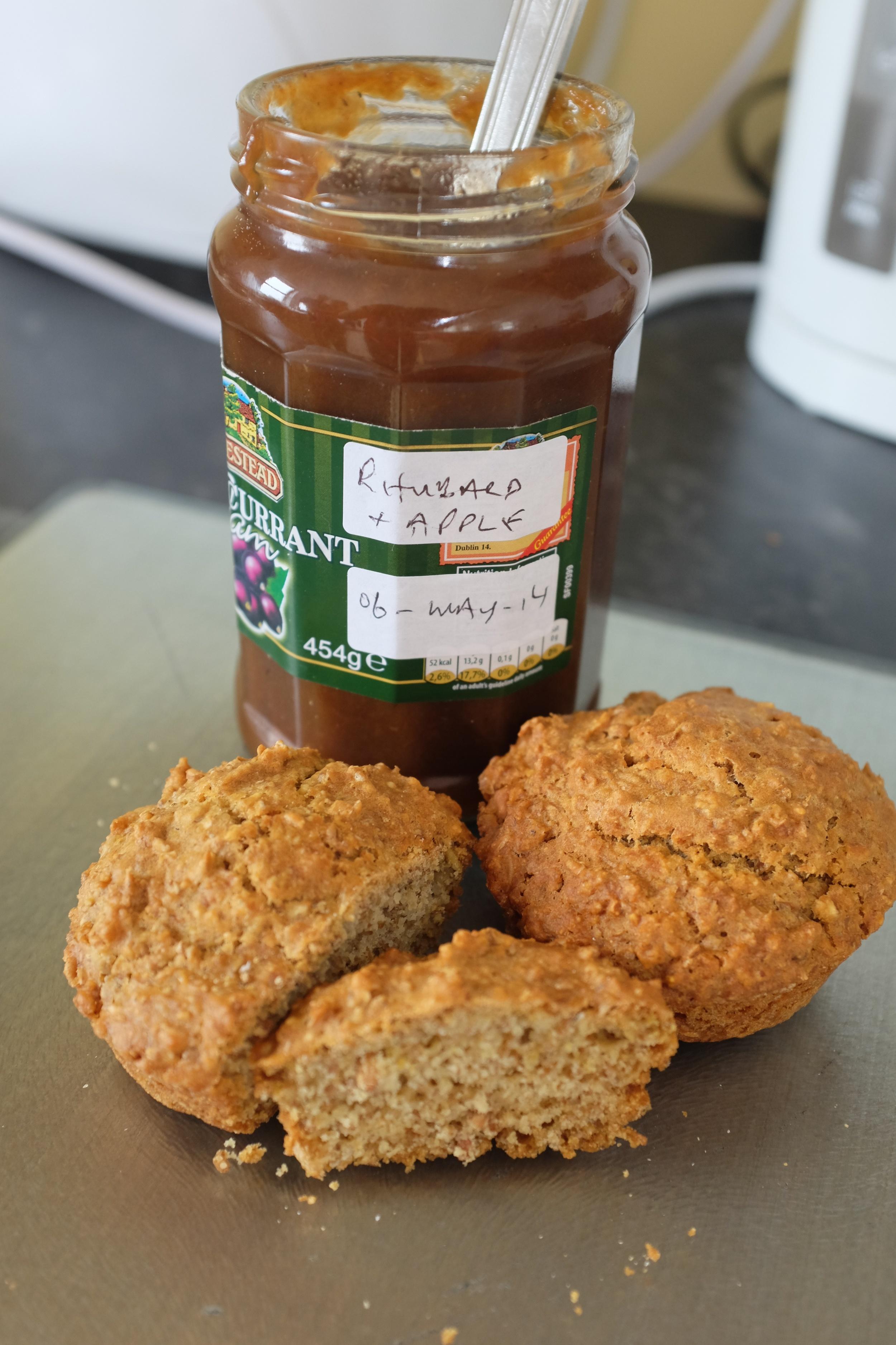 Brown Irish Soda Bread & Rhubarb and Apple Jam