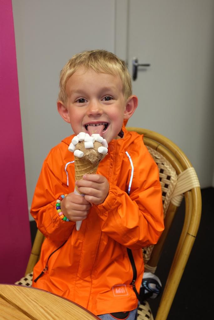 Kian and his chocolate ice cream