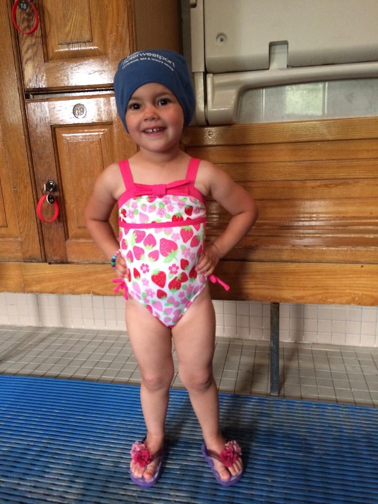 Hannah posing in her swimming gear