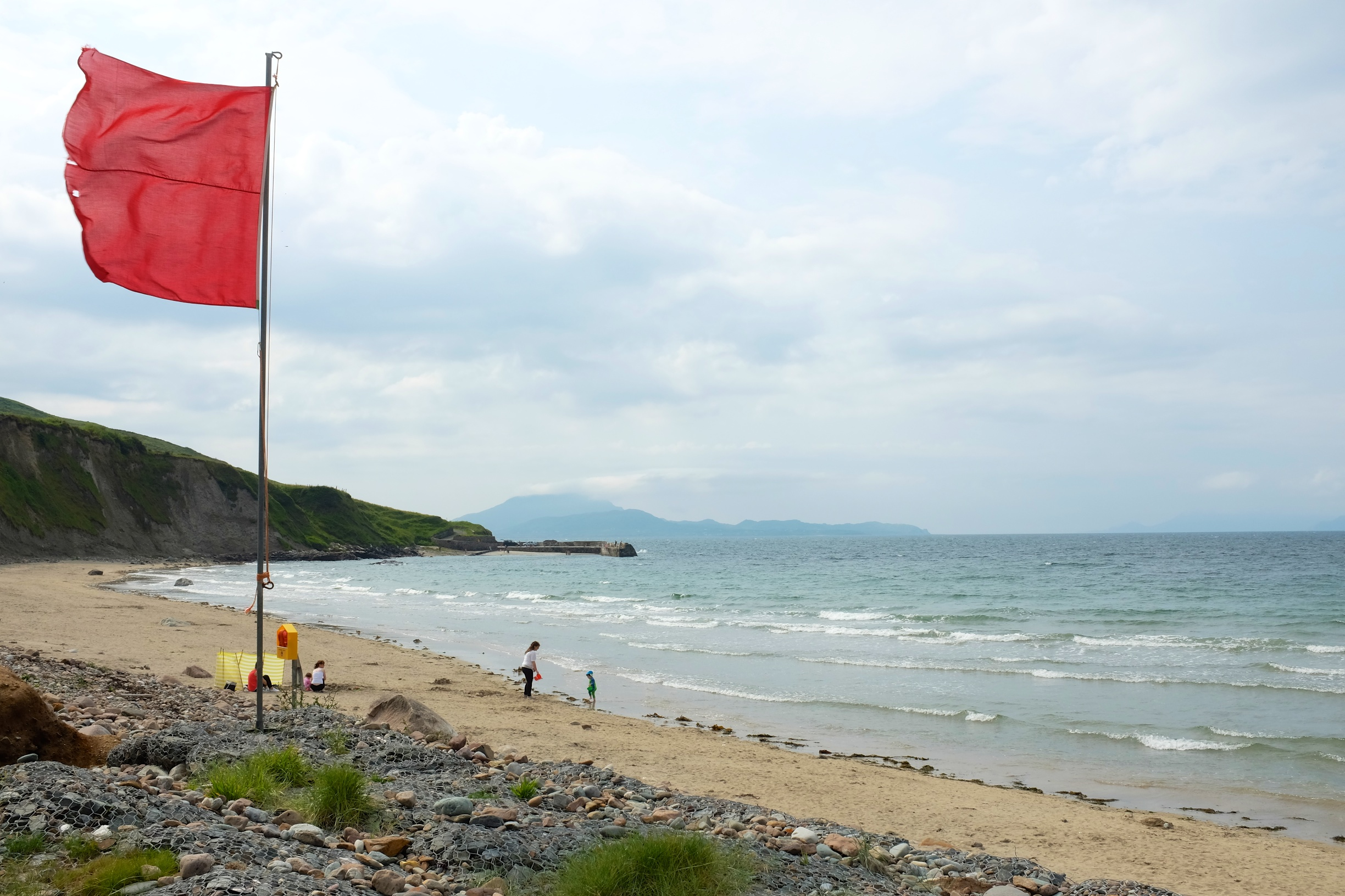 Lifeguard Red flag - conditions are not safe for swimming