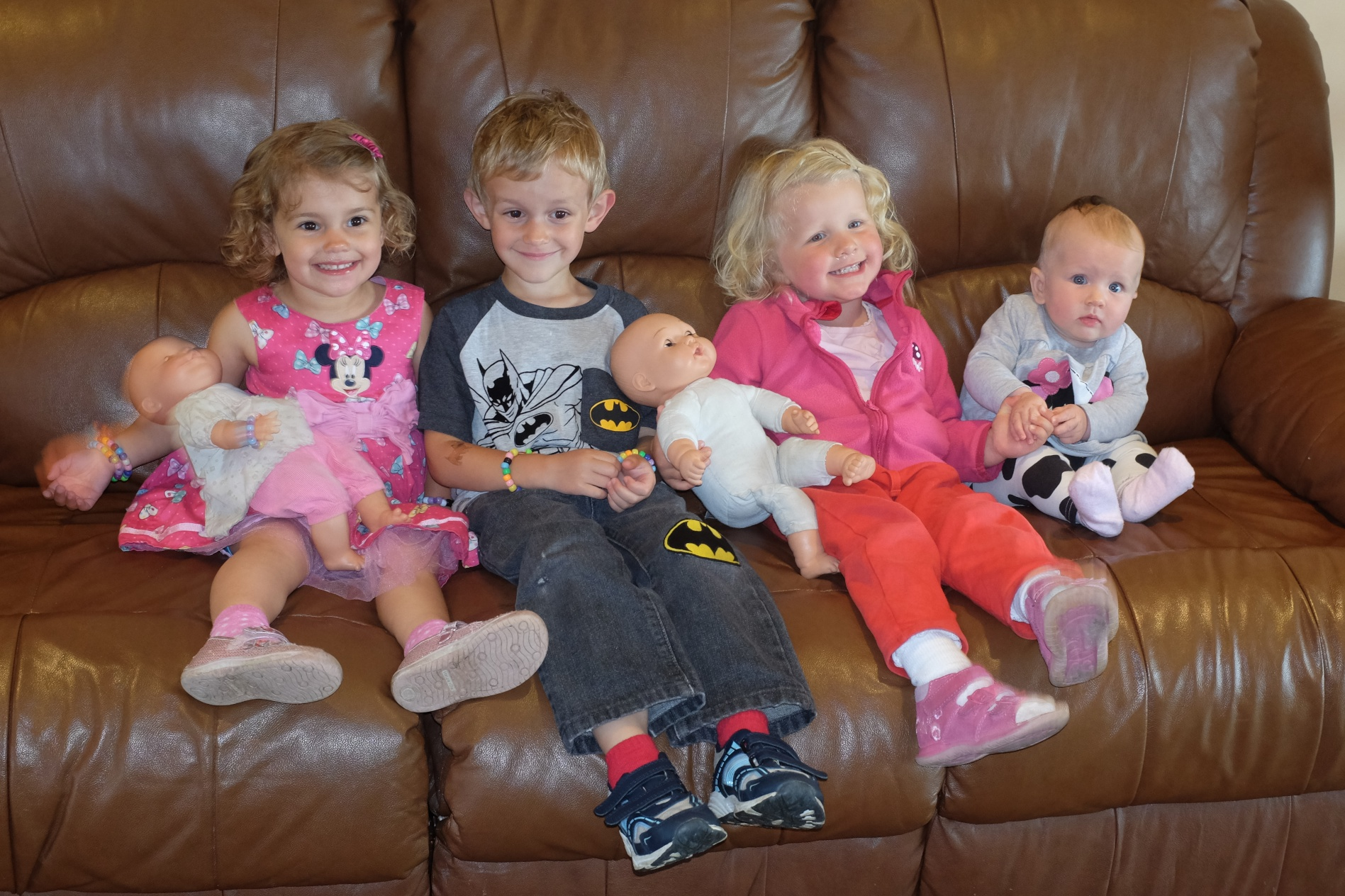 From Left to Right: Baby Ginger, Hannah, Kian, Baby, Ciara, and Roisin
