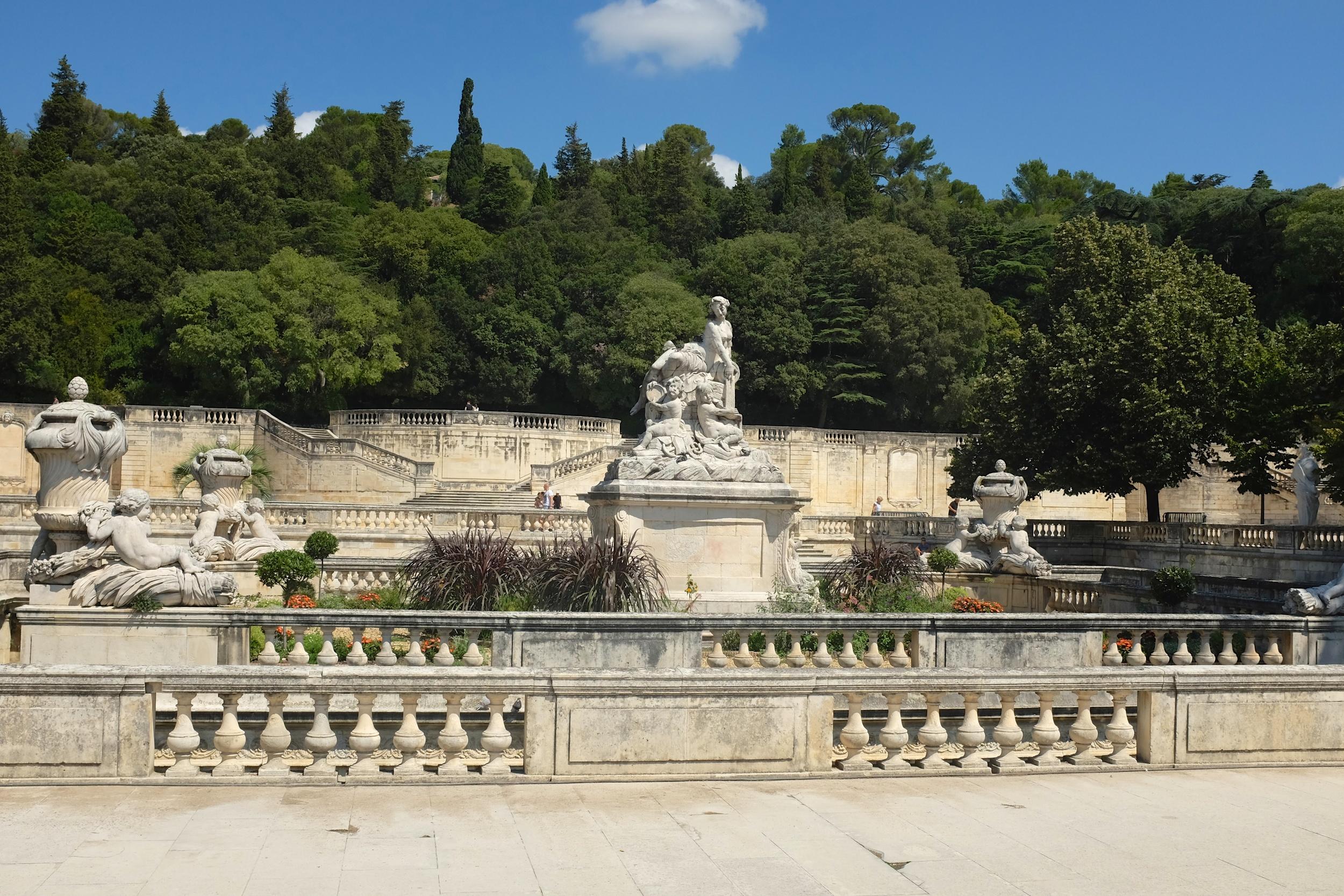 The centerpiece sculptures at the gardens