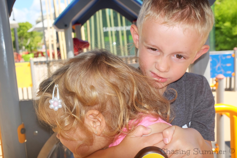 Playground at Esplanade Charles-de-Gaulles