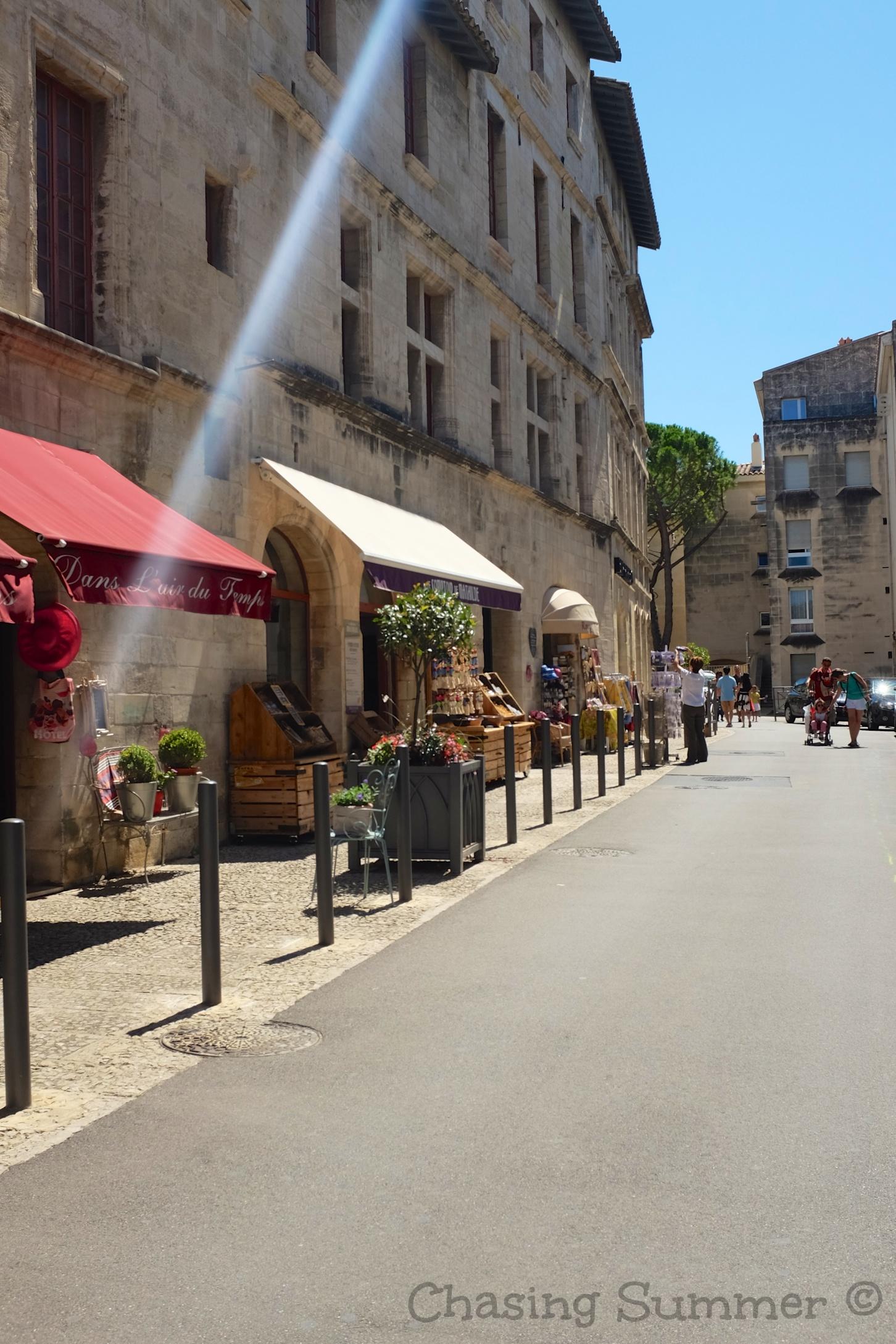 Charming streets of Avignon