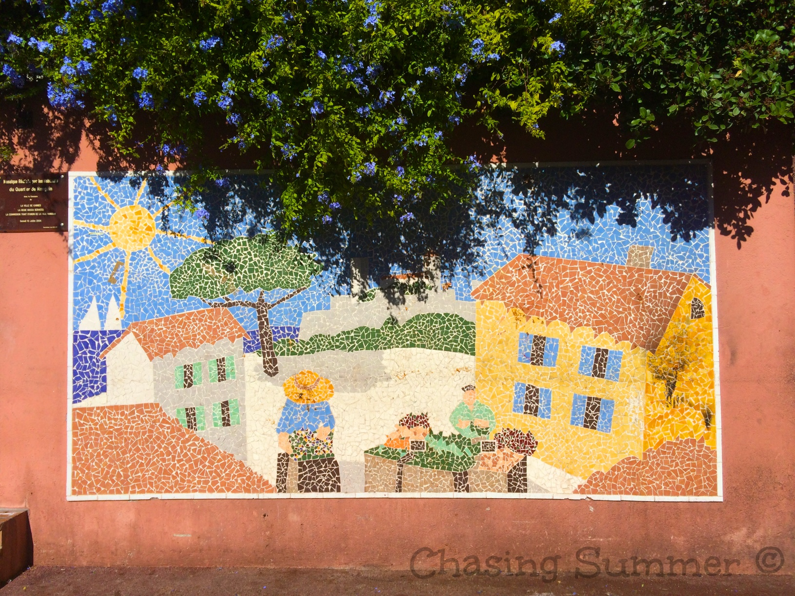 Fruit and Vegetable Market's Mosaic Art piece
