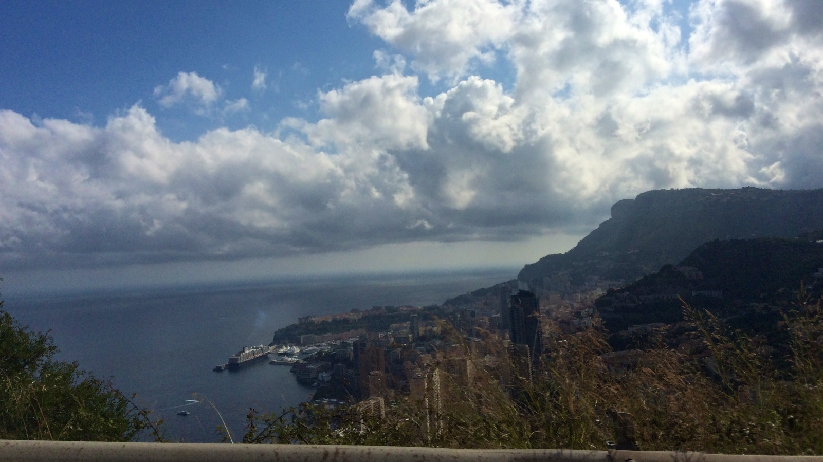 A view of Monaco. A city built on a mountain side