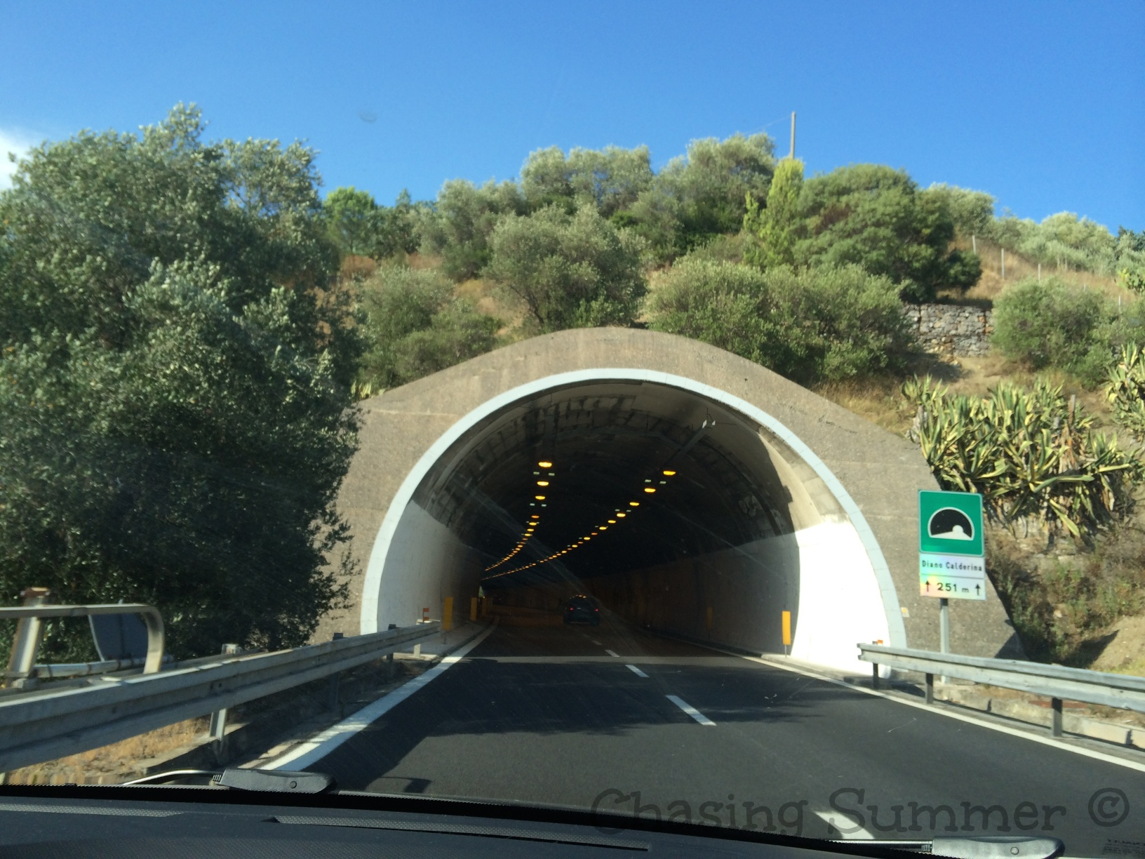 One of the many tunnels