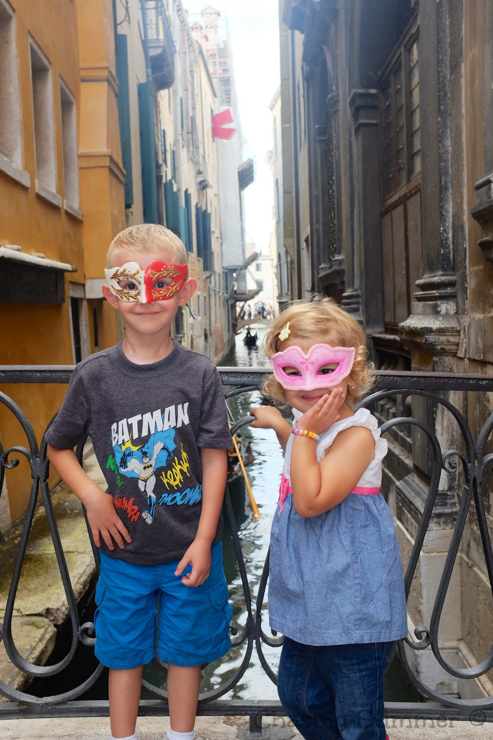 Masked Kids in Venice