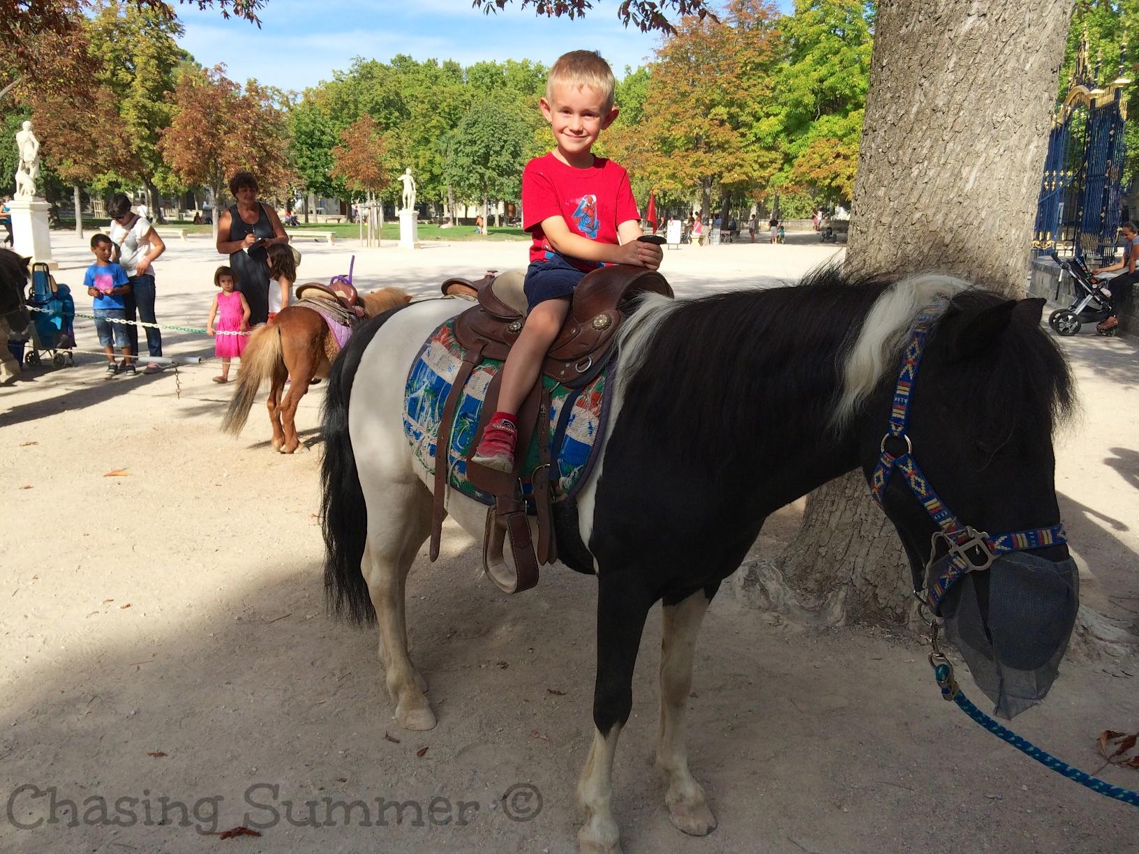 Kian on his pony