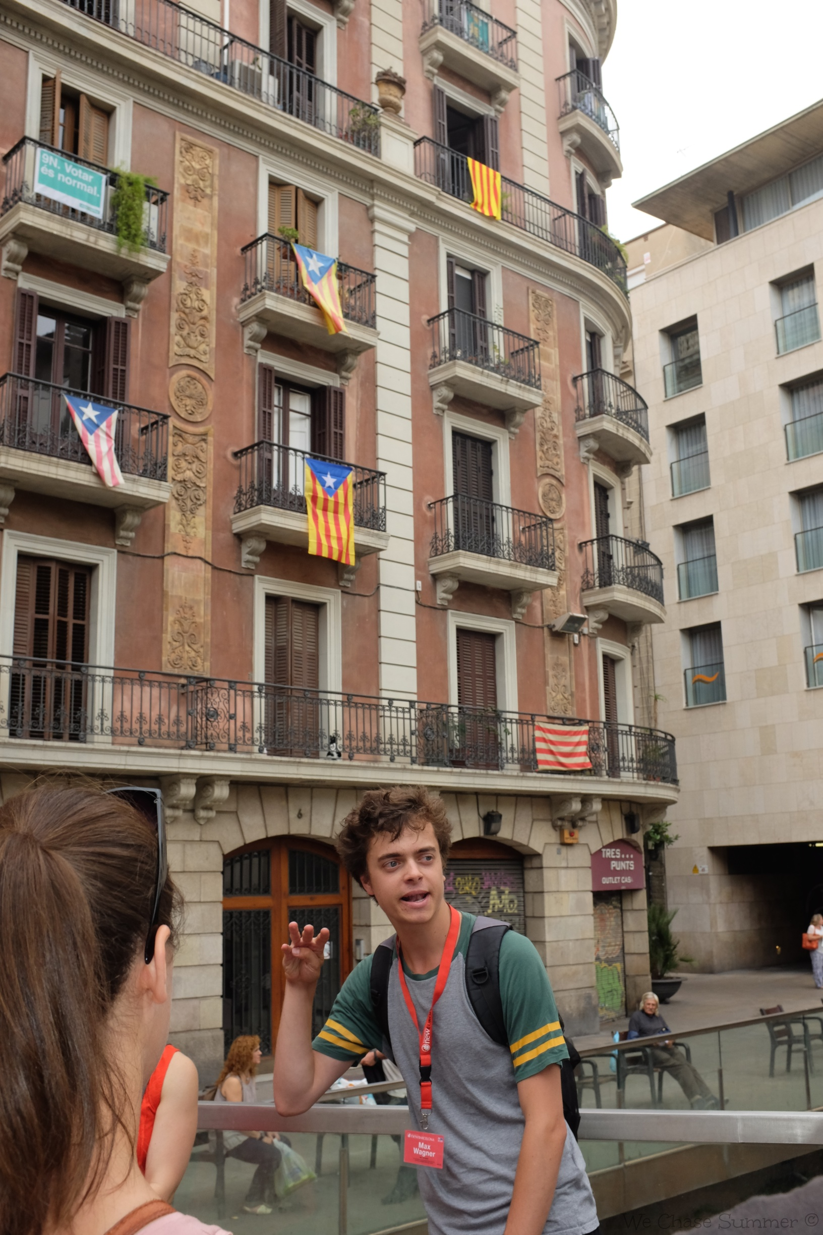 Our guide, Max, explaining the legend