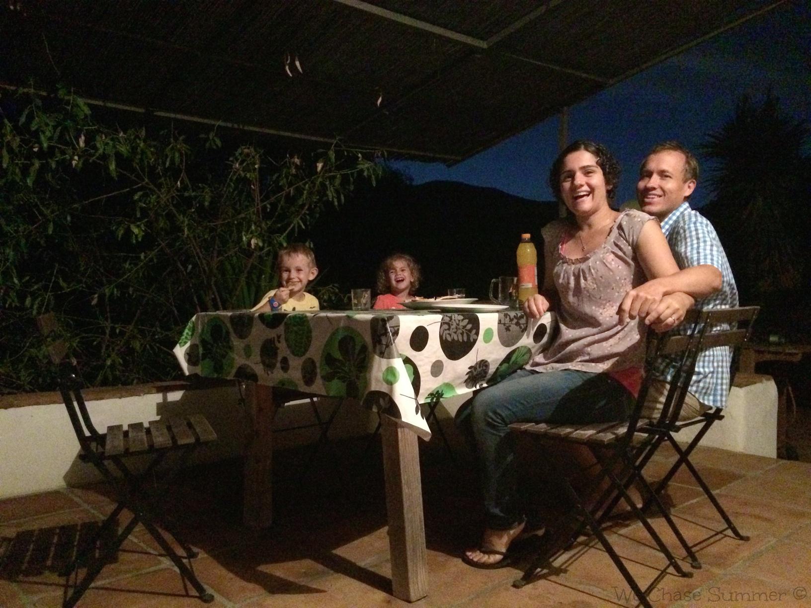 Family dinner on the terrace
